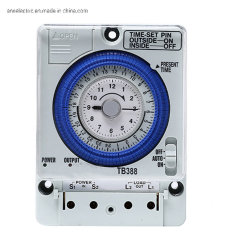 Tb388 110V-230V 50-60Hz 24 Horas Tempo análogo, Interruptor de controlo do temporizador analógico