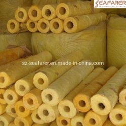 Fibre minérale de matériel d'isolation thermique du tuyau en fibre de verre ignifuge