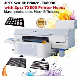 Планшет для струйной печати УФ индикатор системы отверждения UV LED струйный принтер для любых материалов с плоским экраном