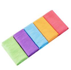 Toalhetes de limpeza de polimento de janela de vidro em microfibra Pano de limpeza detalhando as toalhas