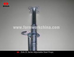 Zolo Zlシリーズドイツの中東タイプ頑丈な構築の調節可能な支注のポストはジャックの鋼鉄支柱の足場を支える
