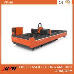 Automatische Faser-Laser-Ausschnitt-Gravierfräsmaschine für CNC, der dünnes Metallblatt/Kohlenstoffstahl/Aluminium/Kupfer/Ausschnitt-Edelstahl (VF-40, schneidet)