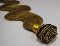 """18 """" #4 main liée Remy les Extensions de cheveux humains droites ondulées"""