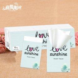 Weiße Pocket Satz-Abschminktuch-Taschentuch-Gewebe der Qualitäts-3ply