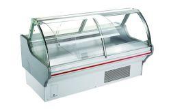 1.5 gebogener Glasfrischfleisch-Feinkostgeschäft-Bildschirmanzeige-Kühlraum /2-/2.5 /3 M für Meerestier-Fleisch