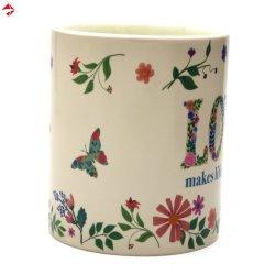 Cambio de color de la mariposa taza con pintura sensibles al calor.