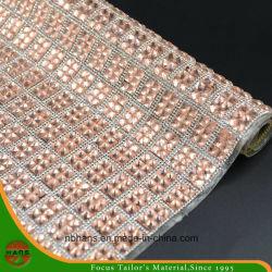 Maglia di cristallo adesiva del Rhinestone della resina di scambio di calore di prezzi competitivi di Hans
