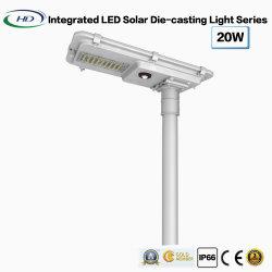 luz de fundición a presión a troquel solar integrada infrarroja del jardín de 20W LED