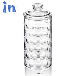 1100ml grand luxe de couleur fantaisie des bonbons en plastique vides ronde mariage Jar