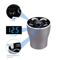 3-в-1 многофункциональный Светодиодный дисплей с Handfree автомобильное зарядное устройство USB беспроводные наушники Bluetooth прикуриватель с пакета