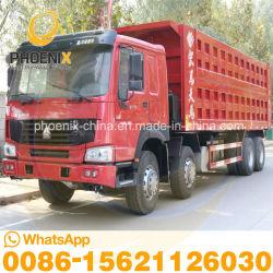 Nuevo cuadro 8*4 12 neumáticos Sinotruk HOWO camiones volquete usados con excelentes condiciones de ventas para África