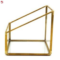 Houder van de Ornamenten van de Gift van de Kaart Terrarium van het Glas van de Vertoning van juwelen de Geometrische