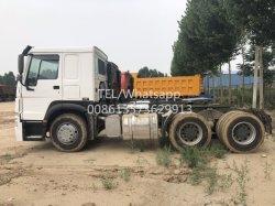 La famosa marca de movimiento rápido de 50 toneladas de neumáticos de 10 375CV Sinotruck HOWO Tractor usado para las ventas de camiones