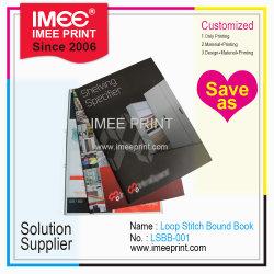 Impressão Imee Custom Agrafado Loop Softcover Agrafar livro vinculada