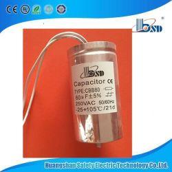 El condensador de la película, para lámpara HID, de larga duración, 85 ~ 105degree