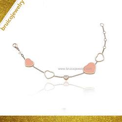Comercio al por mayor Joyas de Plata personalizada pulsera de oro 18K para regalo promocional
