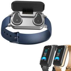 2 в 1 T89 Smart Binaural наушники Bluetooth браслет ЧСС фитнес-Sport браслет