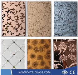 Die Kunst, die/dekorativ ist, befleckte,/angestrichenes/keramisches/Jade-/Silkbildschirm-Drucken/bereift/Luftschlitz/AntiRefelctive/schaltbar/der Glas Block