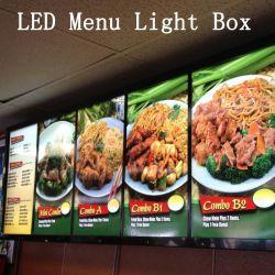 A1/A2/A3/A4 se acende o LED da placa de sinal do Menu Restaurante Caixa de Luz da estrutura de Dossel
