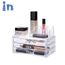 Organizador de maquiagem cosméticos acrílico & Joalharia vitrine de armazenamento