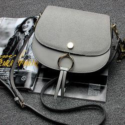 Fancy Taschen Frauen Handtaschen Wildleder Abdeckung Leder Schultertasche Großhandel Preis Emg4934