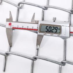 9 게이지 5 * 5cm 6피트 갈바니화된 다이아몬드 메쉬 와이어 체인 Fence for Farm Fence를 연결합니다