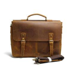 좋은 품질의 이탈리아 크레이지 호스 가죽 메신저 가방 서류 가방