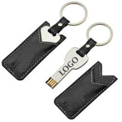 Promoção do couro Chaveiro 8g 16G USB de memória Flash Disk Logotipo personalizado