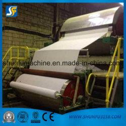 Kleine Toiletten-Seidenpapier-Herstellungs-Maschinen, die riesige Papierrolle bilden