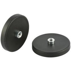 D88 con boccola avvitata M5, M6, M8, M10 magnete con rivestimento in gomma 55 kg Pul