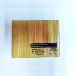 Уф лака гладкой вертикальной Carbonized твердые полы из бамбука
