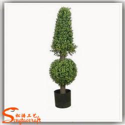 Venta caliente Boj Topiary artificiales de plástico árbol Bonsai