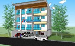 Edificio de apartamentos de prefabricados de estructura de acero de oficina