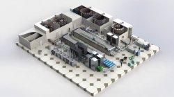 Conjunto Completo comercial Hamburger Máquina de processamento de cozedura de alimentos