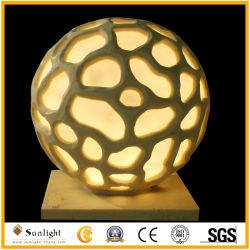 庭の装飾のための砂岩球のランタンの彫刻