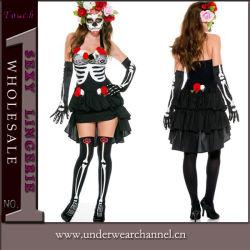 Adulto mulher sexy Fancy Theatrial CRANEO PARTIDO fatos do Dia das Bruxas (TENN89126)