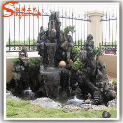 Roccia moderna decorativa diretta della fontana di parete del Buddha della pietra del giardino della fabbrica