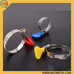 Fascette stringitube di chiave in mano dell'azionamento della vite senza fine dei morsetti della vite di Adjustanle con la maniglia di plastica della vite di pollice