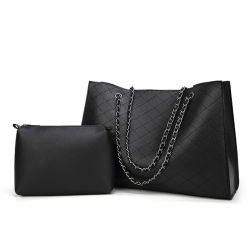 Saco de mulheres de luxo Design Cadeia Lingge Big Bag 2 Pec Definir Senhora Crossbody Ombro Sacola grande de bolsas