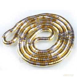 سلسلة الثعبان الذهبية والفضية المرنة مقاس 35 بوصة