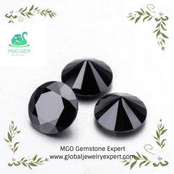 China fábrica de gemas de MGO 2CT Blanco/Negro/Amarillo/Verde/azul/gris/color champán durante todo el corte suelto Moissanite diamantes sintéticos para la fabricación de joyas