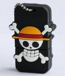 Мода Cute череп 3.0 High Speed USB флэш-памяти (HBU-246)