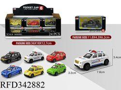1: 60 de aleación de escala alquiler de coche de policía de juguete Juguetes Educativos para Niños
