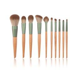 10 piezas de pincel de maquillaje de viaje Set de herramientas cepillo de pelo sintético