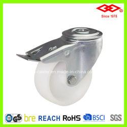 브레이크 플라스틱 산업 캐스터가 포함된 3인치 볼트 구멍(G101-30D075X25S)