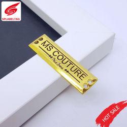 علامة شعار المعادن للبيع الساخن ملصقات معدنية مخصصة الملحقات المعدنية لوحات الاسم للمداسات