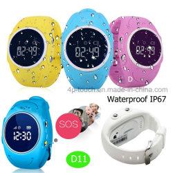 防水IP67はからかうWiFiの位置(D11)のGPSの追跡者の腕時計を