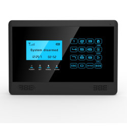 Alarma de seguridad GSM de color negro con SMS, apague la pantalla, la voz de alerta (YL-007M2BX)