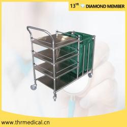 Acciaio inossidabile dell'ospedale che veste il carrello del carrello (THR-MT001-1)