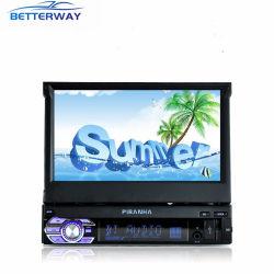 Van verschillende media USB Aux BR Bluetooth Mirrorlink van het Scherm van de Duim van Betterway de Universele Speler van de Auto van de 7 1DIN Intrekbare Capacitieve GPS Navigatie MP5
